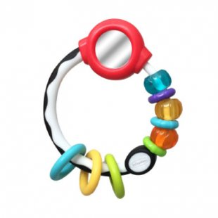 B kids® by Infantino Mirror Ring Rattle