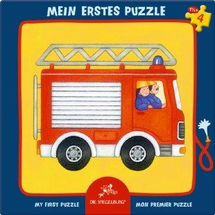 COPPENRATH Mein erstes Rahmenpuzzle 4 Teile - Das Feuerwehrauto