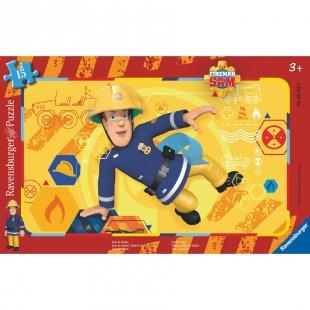 RAVENSBURGER Rahmenpuzzle - Feuerwehrmann Sam: Sam in Aktion, 15 Teile