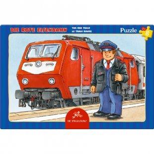 COPPENRATH Kleines Rahmenpuzzle - Die rote Eisenbahn, 8 Teile
