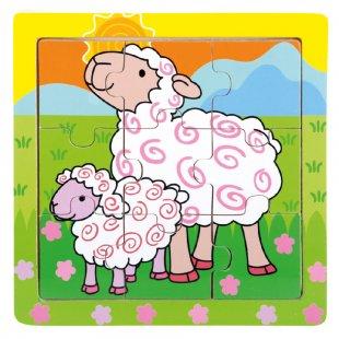 Bino Holz-Puzzle Schafe