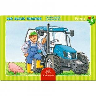 COPPENRATH Kleines Rahmenpuzzle - Der blaue Traktor, 8 Teile