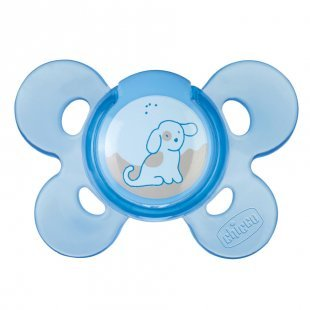 chicco Physio Comfort Silikon-Beruhigungssauger blau ab dem 0. Monat