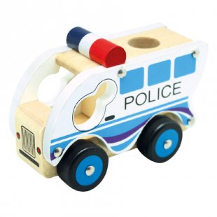Bino Holzauto Polizei
