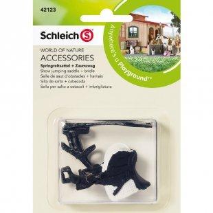 Schleich Springreitsattel + Zaumzeug 42123