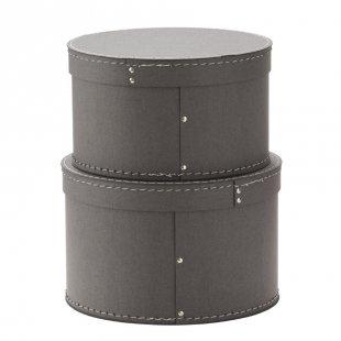 Kids Concept® Aufbewahrungsbox rund grau
