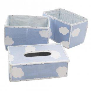 roba Pflegeorganizer 3er Set Kleine Wolke blau