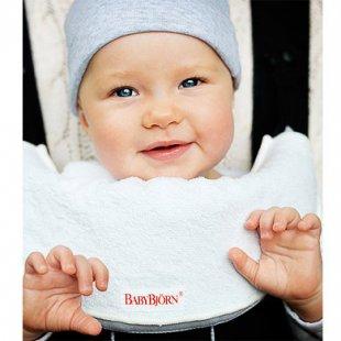 BabyBjörn Lätzchen für Babytrage Weiß - weiß