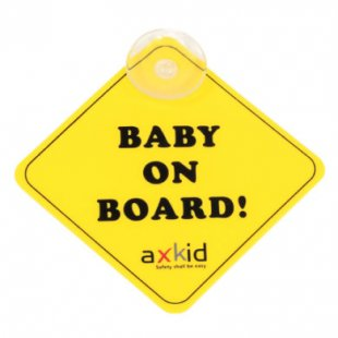 AXKID Schild Baby on Board - gelb