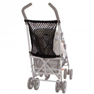 SUNNYBABY universales Kinderwagennetz mit Knebel Schwarz