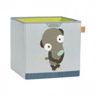 LÄSSIG 4Kids Toy Cube Storage Wildlife - Meerkat - grün