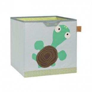 LÄSSIG 4Kids Toy Cube Storage Wildlife Turtle - grau