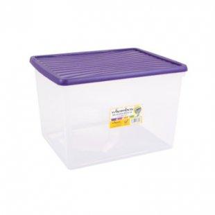 Wham wham® box 50 l mit Deckel (Aufbewahrungsbox), violett