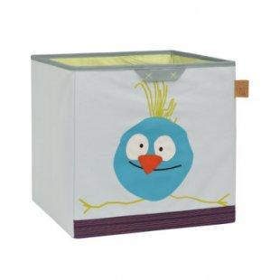 LÄSSIG 4Kids Toy Cube Storage Wildlife Birdie - grau