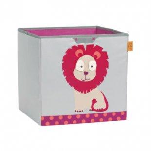 LÄSSIG 4Kids Toy Cube Storage Wildlife - Lion