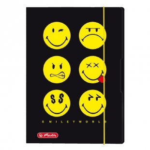 herlitz Sammelmappe A4 Smiley World Black