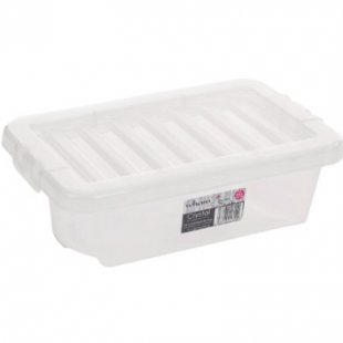 Wham Crystal 3.5L Box mit Deckel, trans - weiß