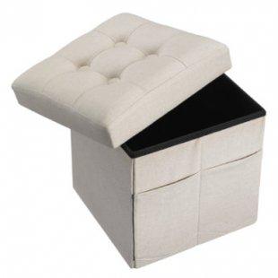 Kids Concept® Sitzwürfel beige - grau