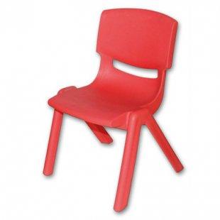 bieco Kinderstuhl rot aus Kunststoff