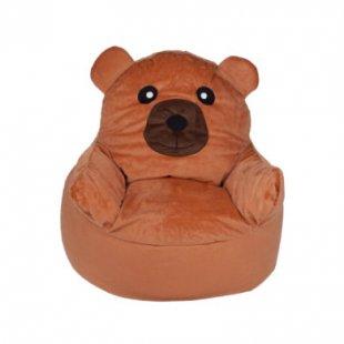 babyGO - Bean Seater Sitzsack Bär - braun