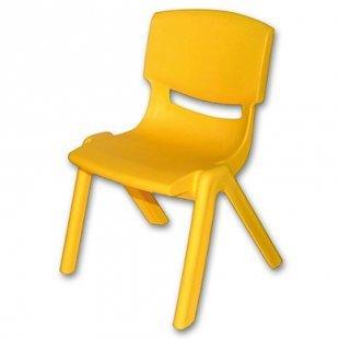 BIECO Kinderstuhl gelb aus Kunststoff