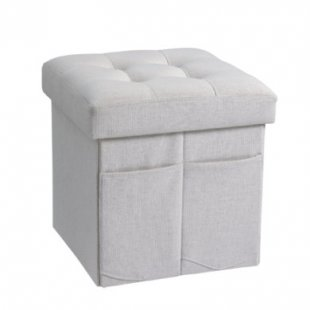 Kids Concept® Sitzwürfel grau - beige