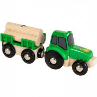 Brio ® WORLD Traktor mit Holz-Anhänger 33799