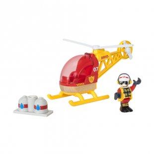 BRIO® WORLD Feuerwehr-Hubschrauber 33797