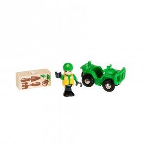 BRIO® WORLD Waldarbeiter-Quad 33798