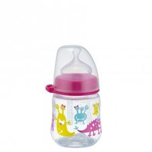 NIP PP Weithalsflasche Girl 150ml Silikonsauger Milch Gr. 0+ Monste Girl