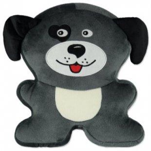 Hütte & Co Kinderkissen Tierform Hund - grau