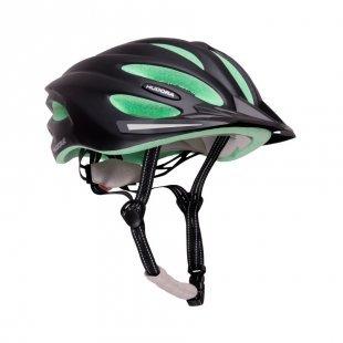 HUDORA® Fahrradhelm Basalt, Gr. 56-59, schwarz/grün