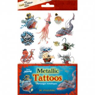 Coppenrath Metallic Tattoos Capt´n Sharky Tiefsee