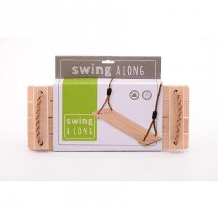 JOHNTOY Swing Time Holz Schaukel 40 x 16 x 4cm