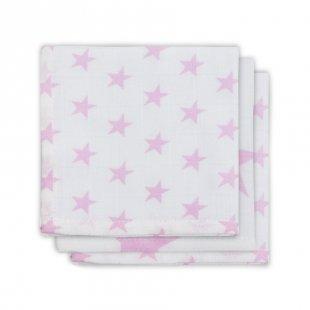 jollein Mull Mundtuch Little star rosa 3er-Pack 31x31cm