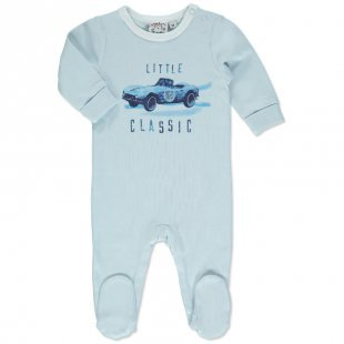 MAX COLLECTION Boys Baby Schlafanzug LITTLE CLASSIC hellblau