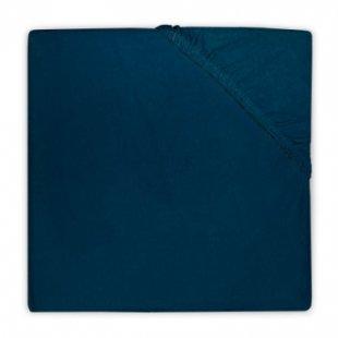 jollein Spannlaken Jersey marine 40x80cm - blau - Gr.40x80 cm