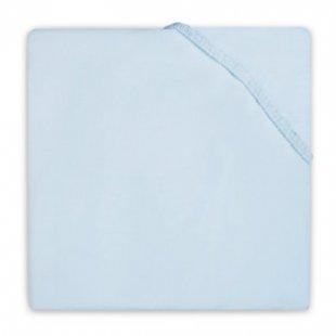 jollein Spannlaken Baumwolle hellblau 40x80cm - Gr.40x80 cm