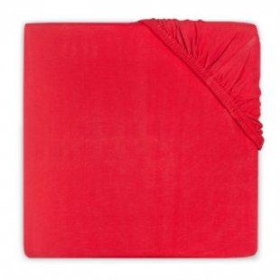 jollein Spannlaken Jersey rot 40x90cm - Gr.40x90 cm