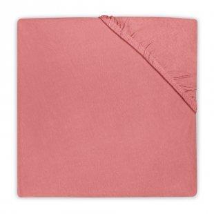 jollein Spannlaken Jersey coral pink 40x80cm