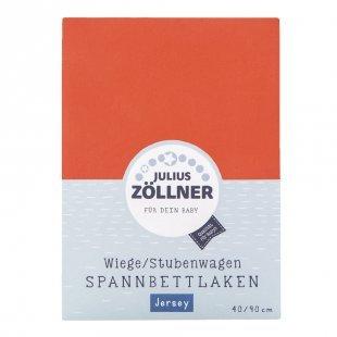 JULIUS ZÖLLNER Spannbetttuch Jersey für Wiege koralle