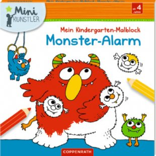 Coppenrath Mini-Künstler: Mein Kindergarten-Malblock: Monster-Alarm