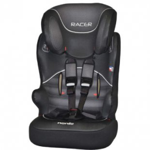 NANIA Kinderautositz Racer SP Graphic Black - schwarz