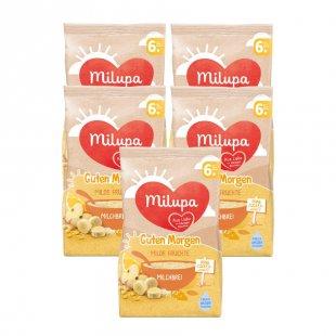 milupa Milchbrei Guten Morgen Milde Früchte 5 x 400 g ab dem 6. Monat
