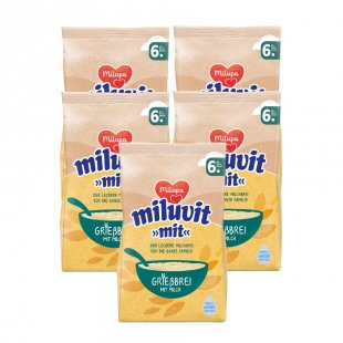 milupa Grießbrei miluvit >>mit<<5 x 400 g ab dem 6. Monat