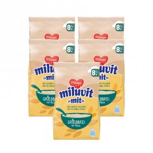 milupa Grießbrei miluvit >>mit<< 5 x 400 g ab dem 8. Monat