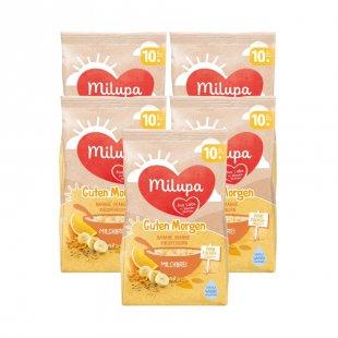 milupa Milchbrei Guten Morgen Banane Orange Knusperkorn 5 x 400 g ab dem 10. Monat