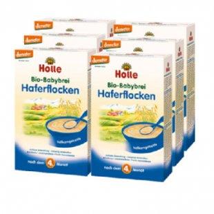 Holle Bio Babybrei Haferflocken 6 x 250 g