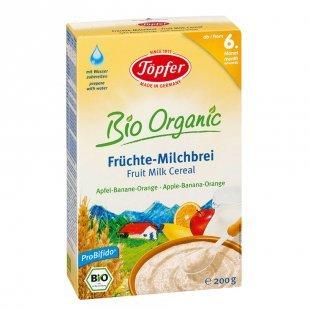 Töpfer Bio Früchte Milchbrei, Apfel, Banane, Orange 200 g