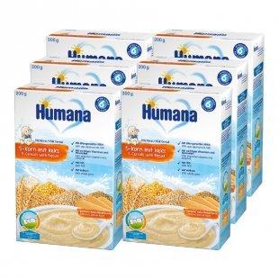 Humana Milchbrei 5-Korn mit Keks 6 x 200 g